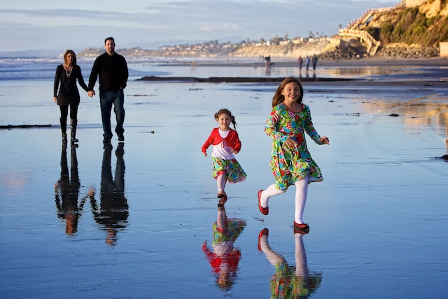 family photography on the beach San Diego