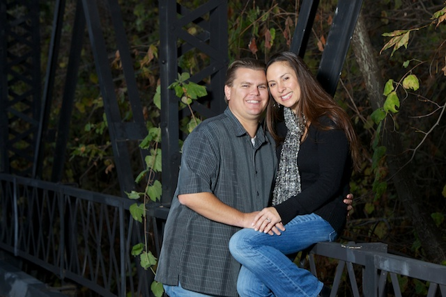 san diego couple at old steel bridge